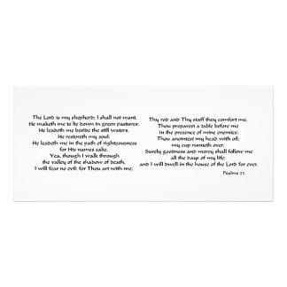 Salmos 23 plantilla de lona