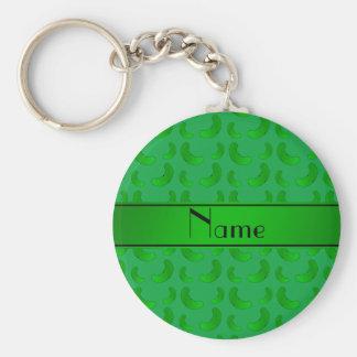 Salmueras verdes verdes conocidas personalizadas llavero