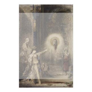 Salome y la aparición de Gustave Moreau Folleto 14 X 21,6 Cm