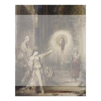 Salome y la aparición de Gustave Moreau Folleto 21,6 X 28 Cm