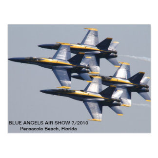 Salón aeronáutico 7/2010 de los ángeles azules postal