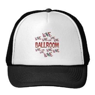 Salón de baile del amor del amor gorras