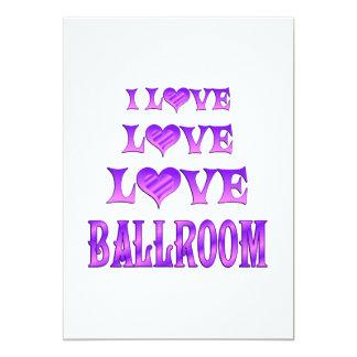 Salón de baile del amor del amor invitacion personalizada