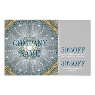 salón de belleza azul de plata de la moda de las folleto 14 x 21,6 cm