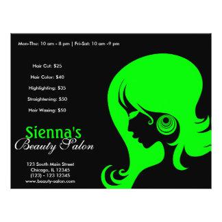 Salón de belleza (cal) flyer personalizado