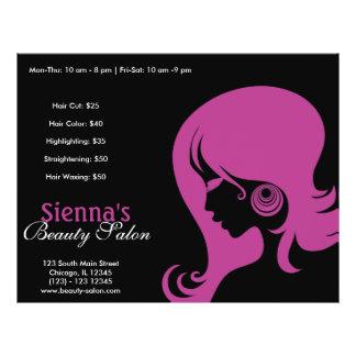 Salón de belleza (ciruelo) tarjeta publicitaria