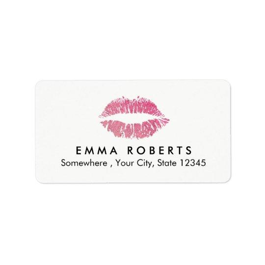Salón de belleza del artista de maquillaje de los etiqueta de dirección