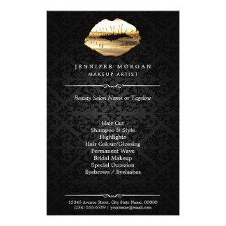 Salón de belleza del artista de maquillaje de los folleto 14 x 21,6 cm