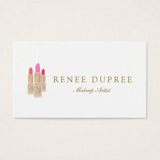 Salón de belleza del artista de maquillaje del tarjeta de negocios
