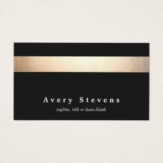 Salón de belleza elegante moderno rayado del negro tarjeta de negocios