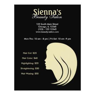 Salón de belleza (gasa del limón) flyer personalizado