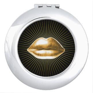 Salón de belleza moderno de los labios elegantes espejos maquillaje
