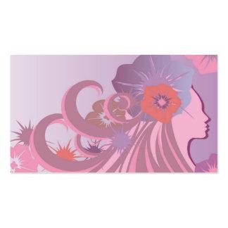 Salón de belleza o tarjeta de visita del balneario