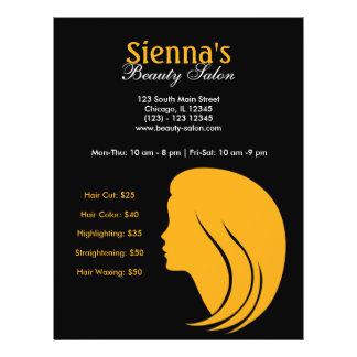 Salón de belleza (oro) flyer personalizado