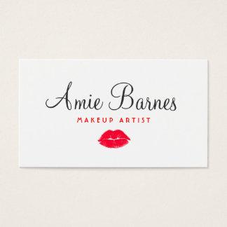 Salón de belleza rojo retro del artista de tarjeta de negocios
