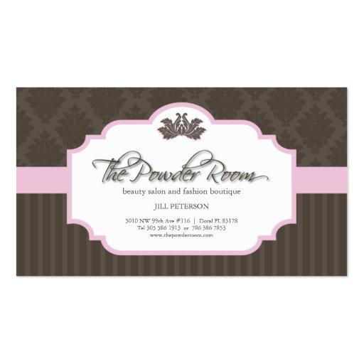 Salón de belleza y tarjeta de visita del boutique