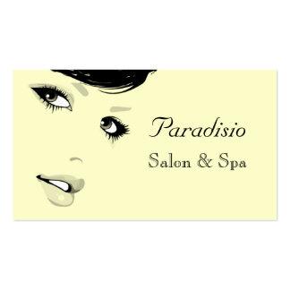 Salón de belleza y tarjeta de visita elegantes del