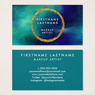 Salón de la acuarela del azul y del oro y artista tarjeta de visita