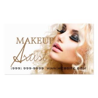 Salón de la cosmetología de la belleza del artista tarjeta de visita