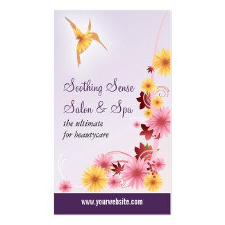 Salón de la estética de la margarita del colibrí tarjeta de negocio