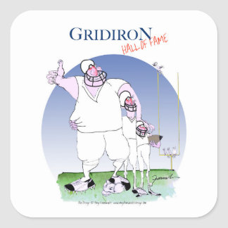 Salón de la fama del Gridiron, fernandes tony Pegatina Cuadrada