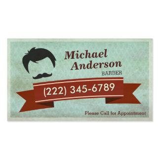 Salón de la peluquería de caballeros - tarjeta de tarjetas de visita