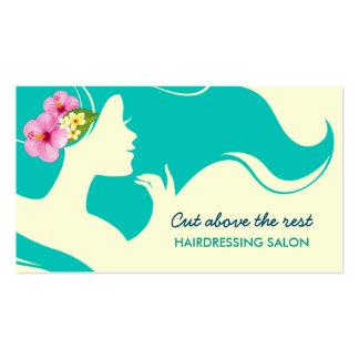 Salón de la peluquería tarjetas de visita