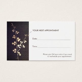 Salón de la rama del oro del zen y tarjeta de la