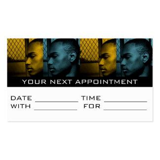 Salón de pelo de la peluquería de caballeros de la tarjetas de visita