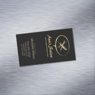 Salón de pelo lindo de la belleza del maquillaje tarjetas de visita magnéticas