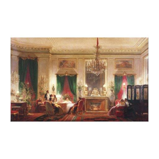sal n de princesa matilde bonaparte lienzo envuelto para galerias zazzle. Black Bedroom Furniture Sets. Home Design Ideas