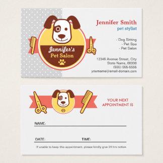 Salón del balneario del perro - tarjeta de la cita