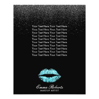 Salón del brillo del negro de los labios de la flyer