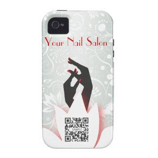 salón del clavo de la plantilla del caso del iPhon Vibe iPhone 4 Carcasa
