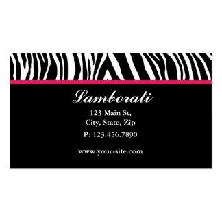 Salón del estilista del diseñador de moda del tarjetas de visita