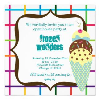 Salón del helado de la casa abierta comunicados personalizados