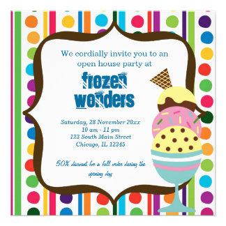 Salón del helado de la casa abierta anuncio personalizado