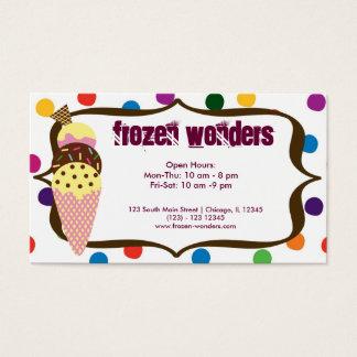 Salón del helado tarjeta de negocios