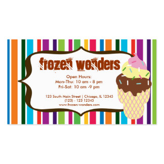 Salón del helado tarjetas de visita