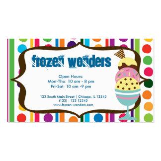 Salón del helado plantillas de tarjeta de negocio