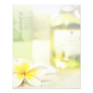 Salón del masaje del cuidado de piel del balneario folleto 11,4 x 14,2 cm