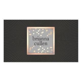 Salón del negro del confeti del oro del artista de tarjetas de visita