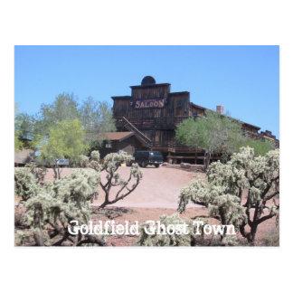 Salón del pueblo fantasma de Goldfield Postal