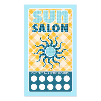 salón del sol de la tela escocesa tarjetas de visita