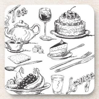Salón del té posavaso
