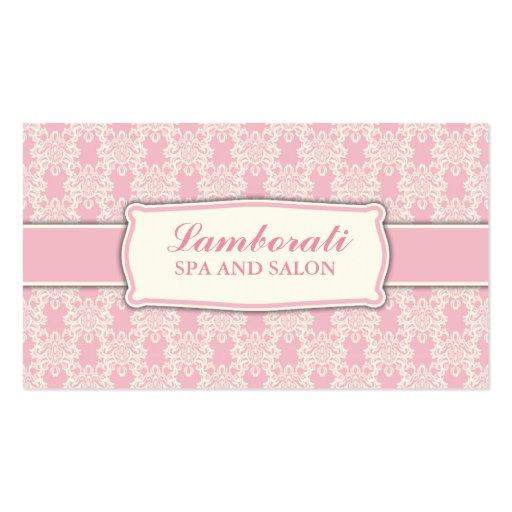 Salón elegante profesional del estampado de flores plantilla de tarjeta personal