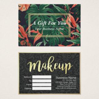 Salón floral del maquillaje de la escritura del tarjeta de negocios