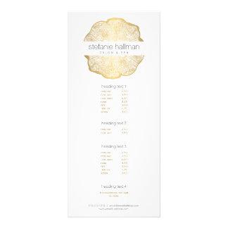 Salón orgánico de los anillos de árbol del oro de tarjeta publicitaria