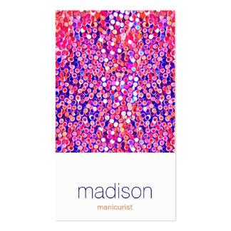Salón rosado colorido moderno del confeti de la tarjetas de visita