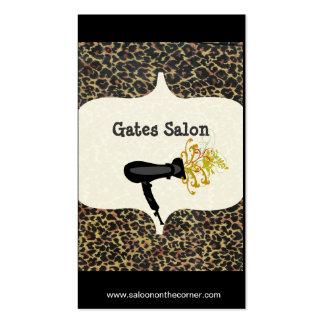 Salón salvaje del secador de pelo del estampado tarjetas de visita